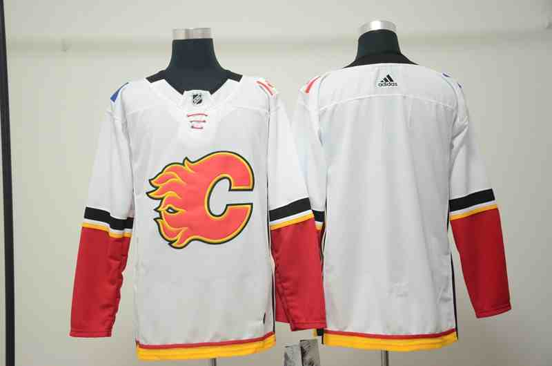Flames Blank White Adidas Jersey