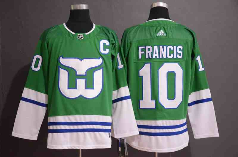 Whalers 10 Ron Francis Green Adidas Jersey