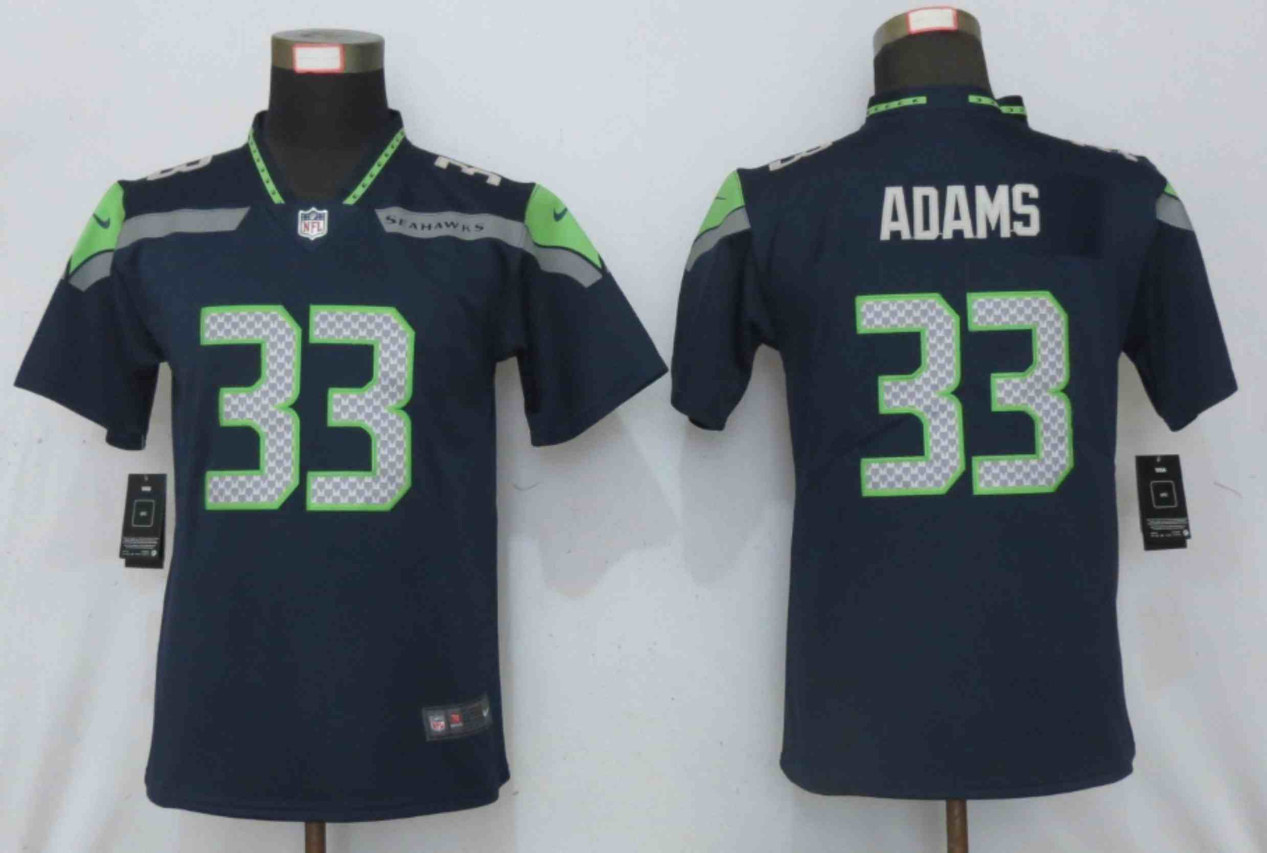 Women Nike Seattle Seahawks 33 Adams Blue 2020 Vapor Untouchable Elite Playe