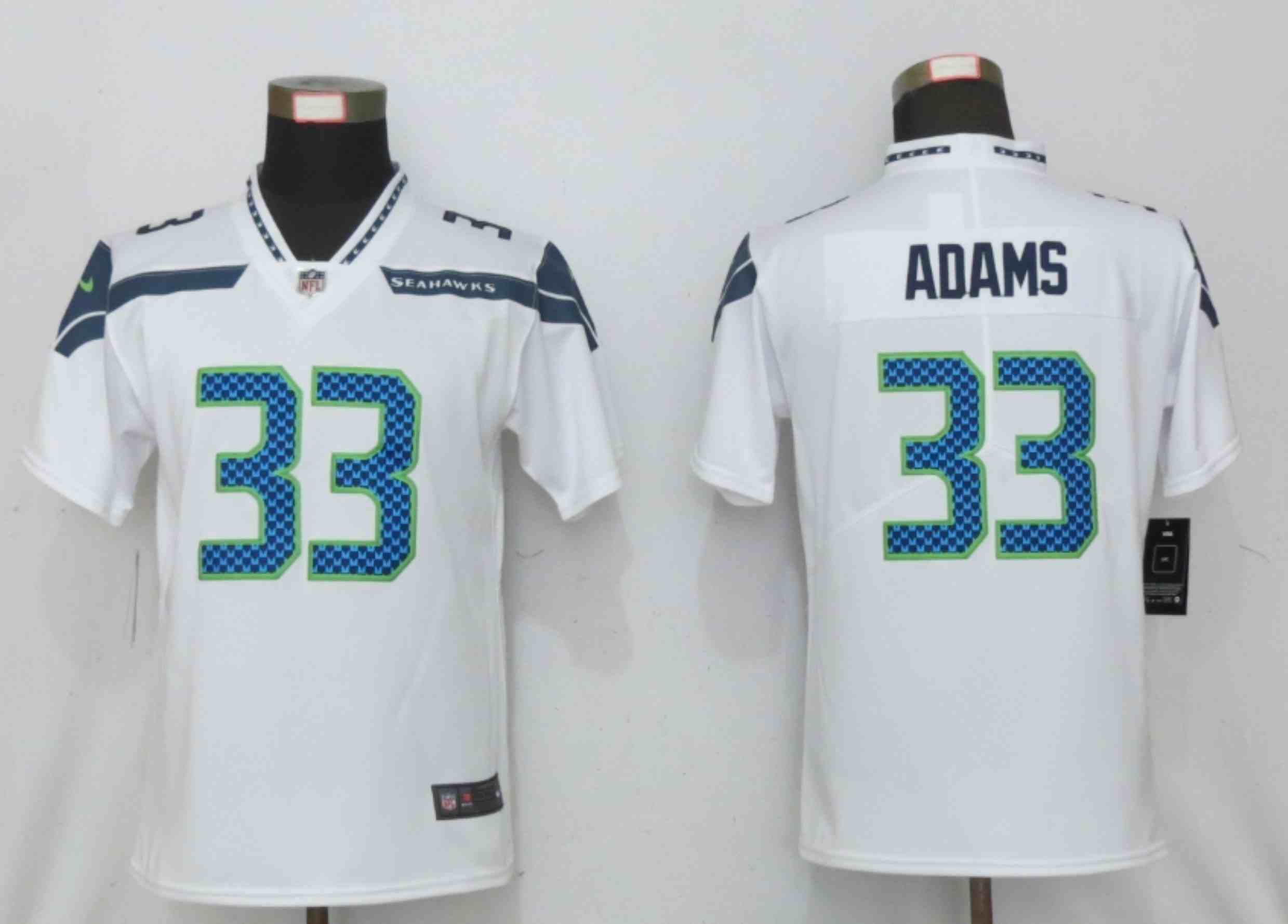 Women Nike Seattle Seahawks 33 Adams White 2020 Vapor Untouchable Elite Playe