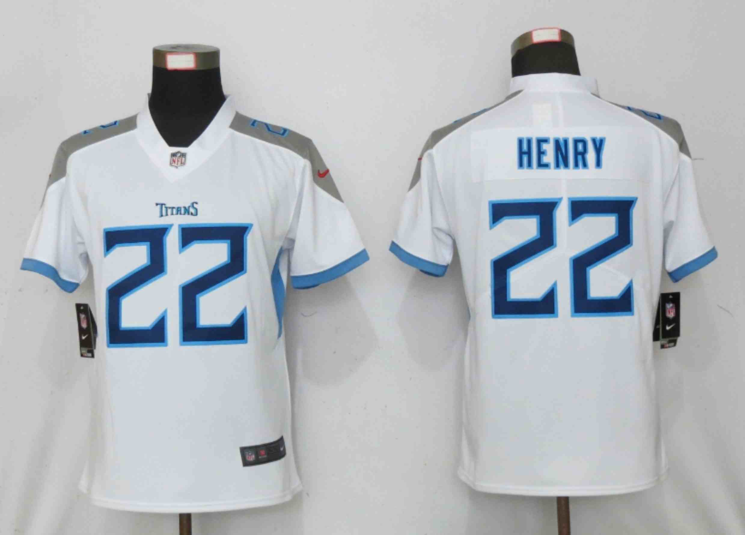 Women New Nike Tennessee Titans 22 Henry White 2020 Vapor Untouchable Elite Playe