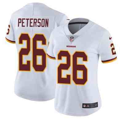 Nike Redskins #26 Adrian Peterson White Womens Stitched NFL Vapor Untouchable Limited Jersey