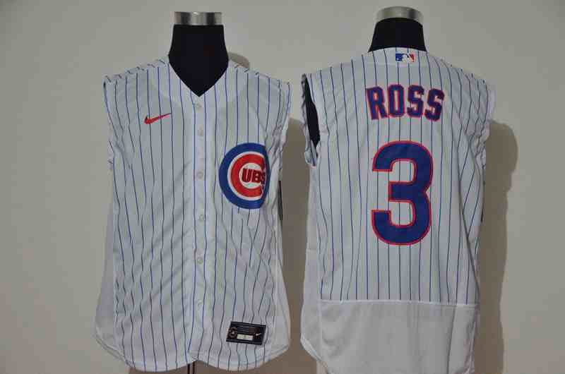 Cubs 3 ROSS White Nike Cool Base Sleeveless Jersey