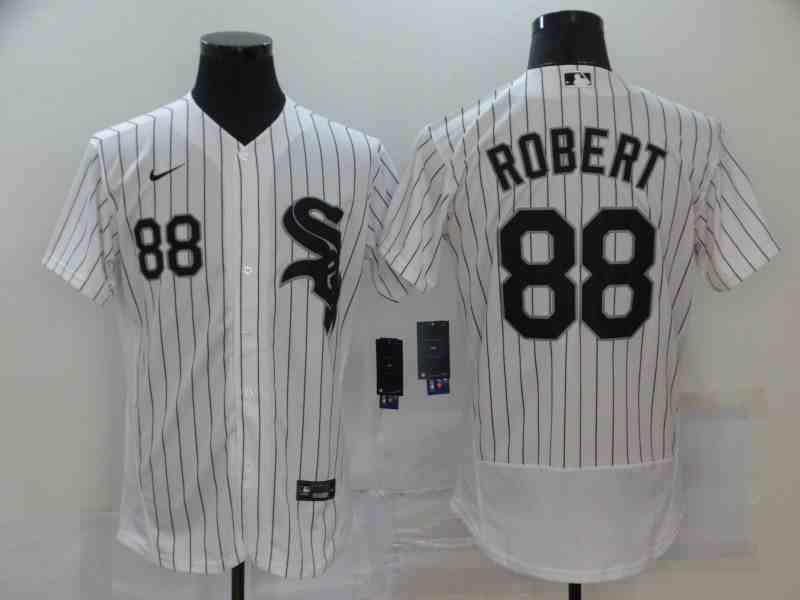 White Sox 88 Luis Robert White 2020 Nike Flexbase Jersey