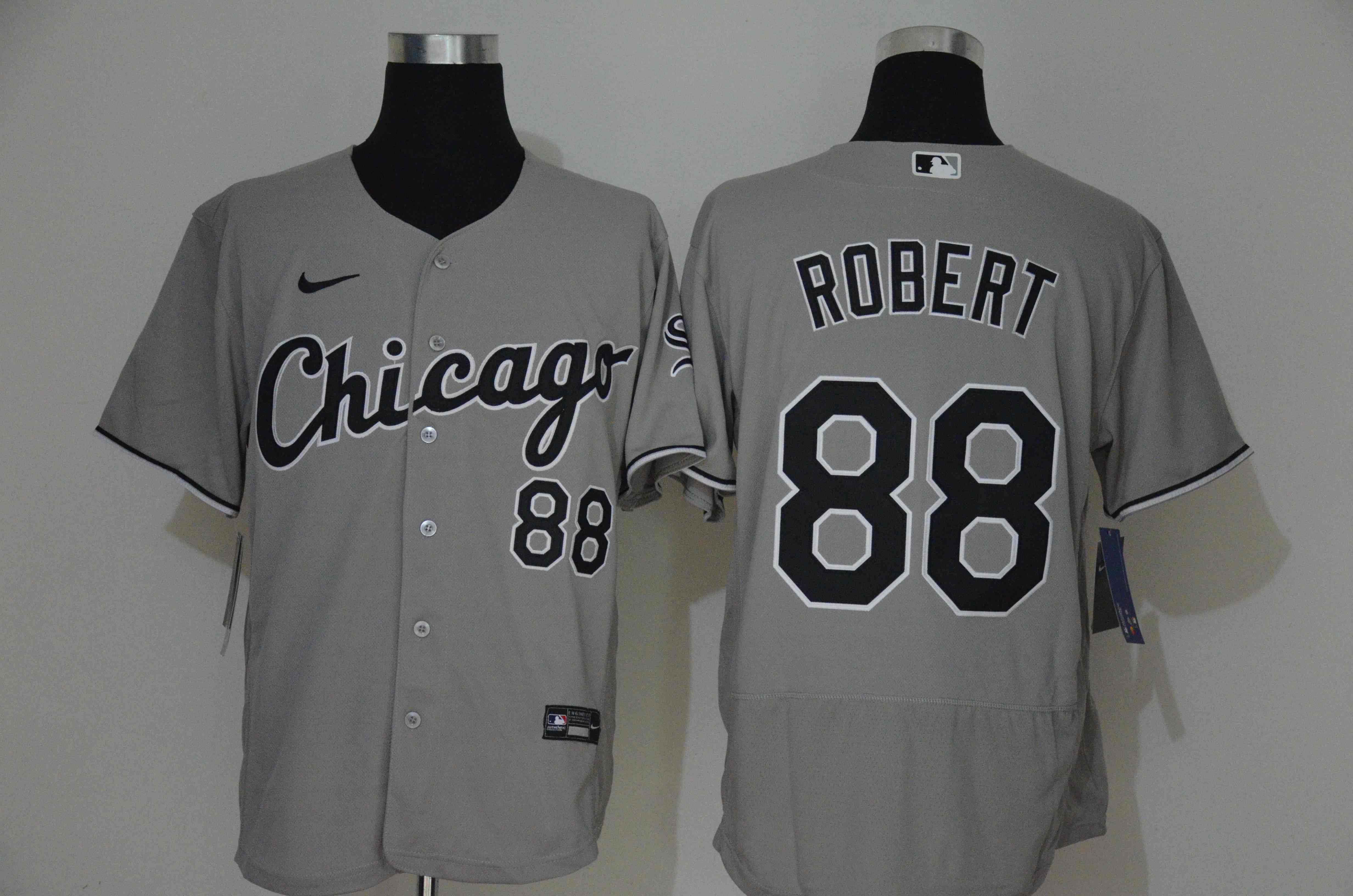 White Sox 88 Luis Robert Gray 2020 Nike Flexbase Jersey
