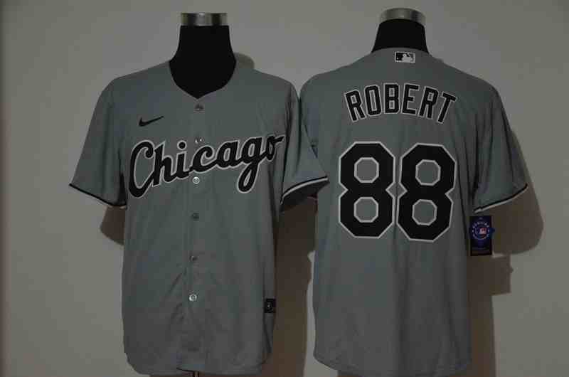 White Sox 88 Luis Robert Gray 2020 Nike Cool Base  Jersey