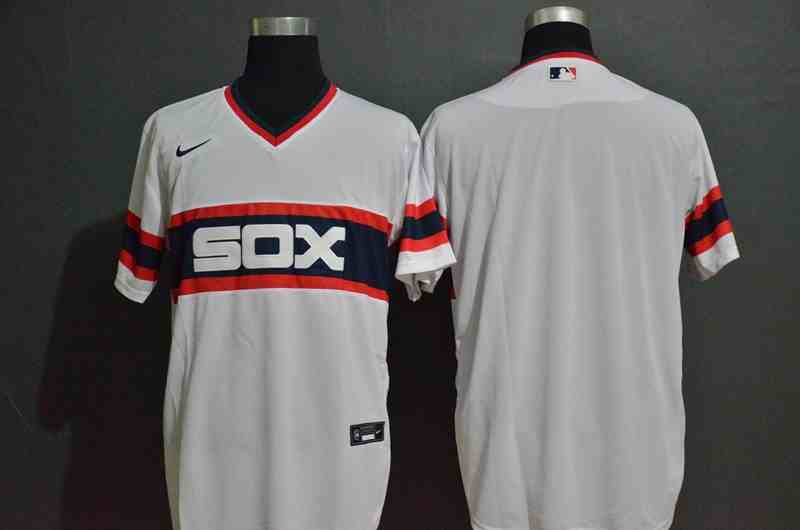 White Sox White Cooperstown Collection Jersey