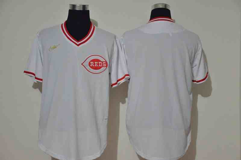 Reds  White 1976 Throwback Jersey