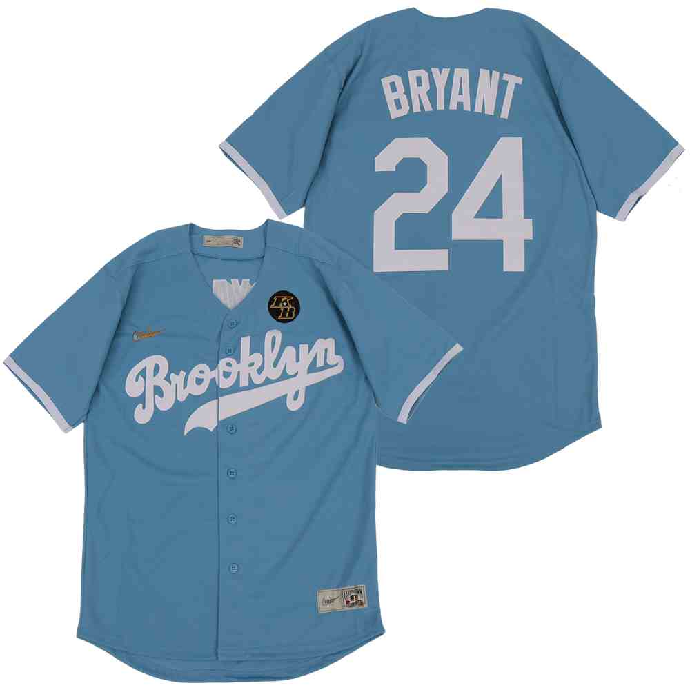 Dodgers 24 Kobe Bryant Light Blue 2020 Nike KB Cooperstown Collection Jersey