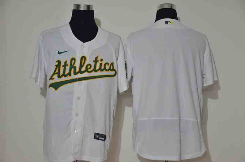 Athletics Blank White Nike 2020 Flexbase Jersey