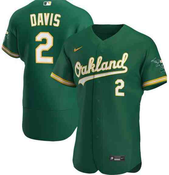 Athletics 2 Khris Davis Green 2020 Nike Flexbase Jersey