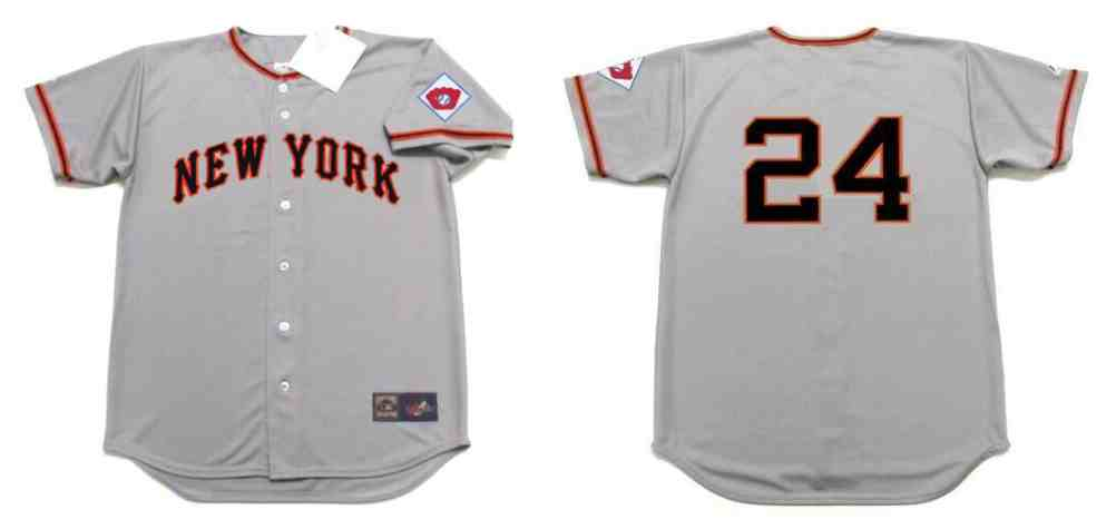 Giants 24 Willie Mays Gray 1951 Throwback Jersey