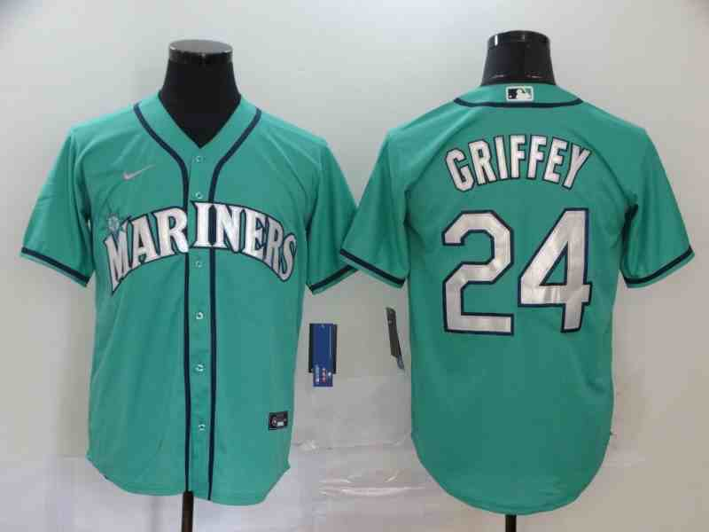 Mariners 24 Ken Griffey Jr. Green 2020 Nike Cool Base Jersey