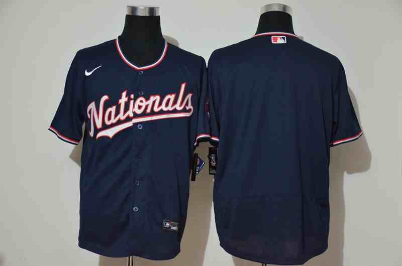 Nationals Blank Navy Nike Cool Base Jersey