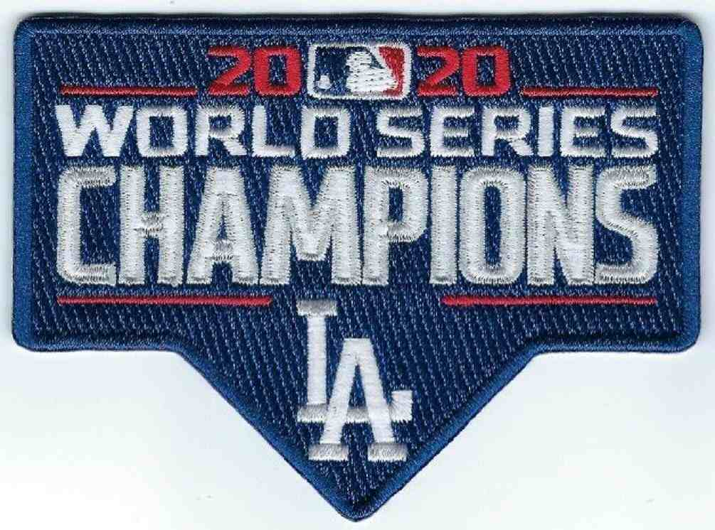 2020 MLB World Series Champions Los Angeles Dodgers Collectible Patch