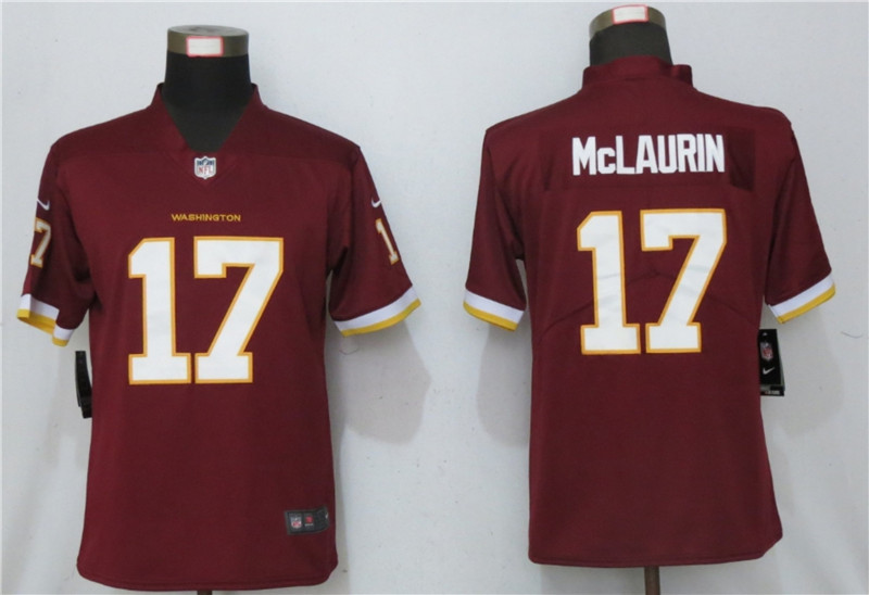 Nike-Washington-Football-Team-17-Terry-McLaurin-Red-Youth Vapor-Untouchable-Limited-Jersey