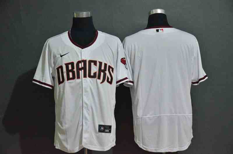 Diamondbacks Blank White Nike 2020 Flexbase Jersey