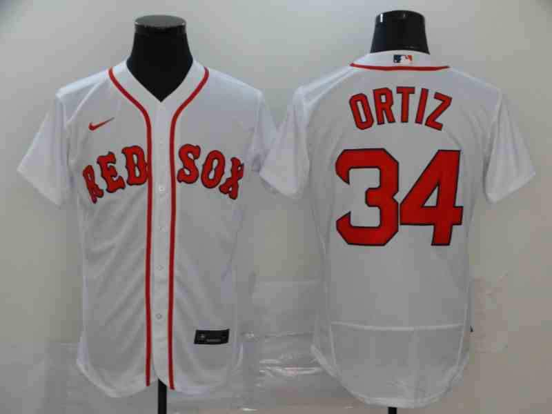 Boston Red Sox #34 David Ortiz White 2020 Nike Cool Base Jersey