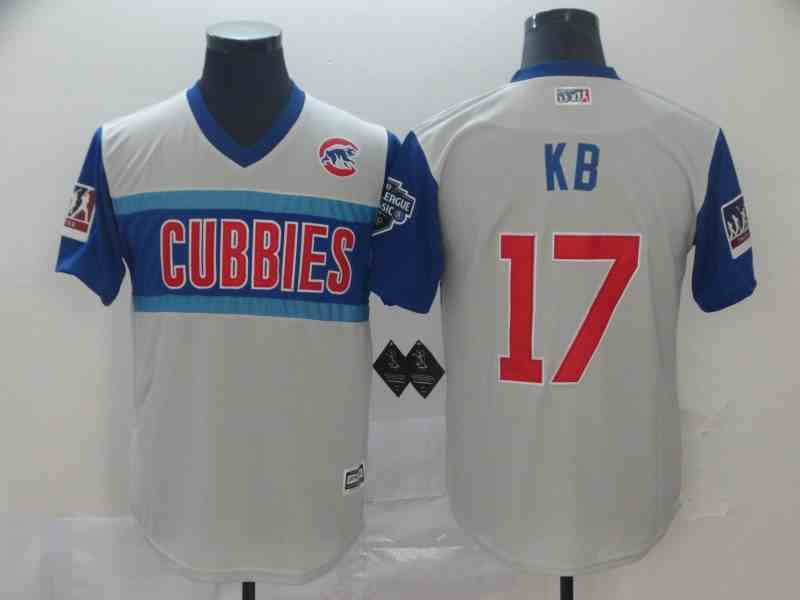 Cubs 17 Kris Bryant  Kb Gray 2019 MLB Little League Classic Player Jersey