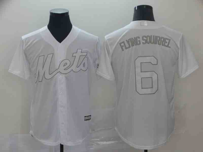 Mets 6 Jeff McNeil  Flying Squirrel  White 2019 Players' Weekend Authentic Player Jersey