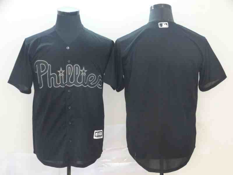 Phillies Blank Black 2019 Players' Weekend Authentic Player Jersey