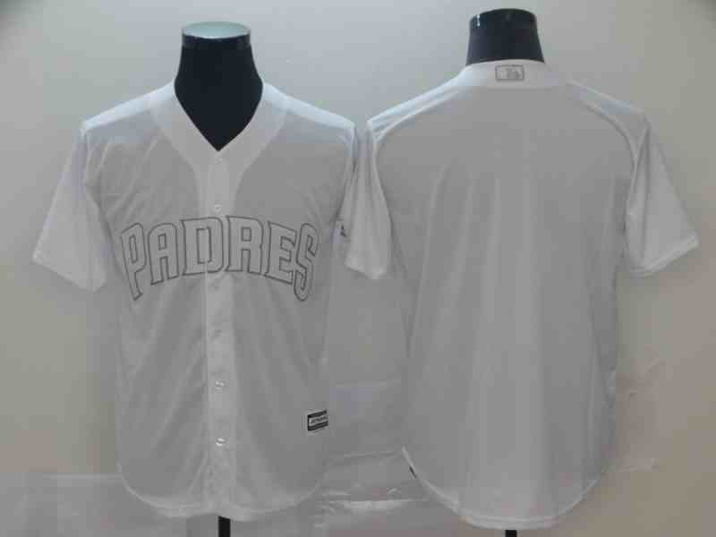Padres Blank White 2019 Players' Weekend Player Jersey