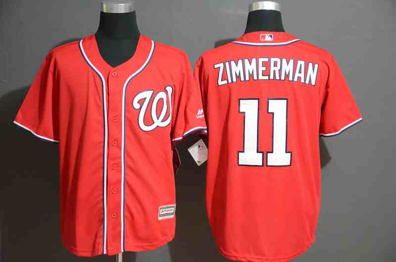 Nationals 11 Ryan Zimmerman Red Cool Base Jersey