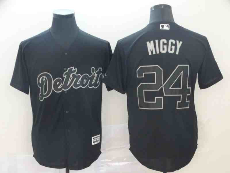 Tigers 24 Miguel Cabrera  Miggy Black 2019 Players' Weekend Player Jersey