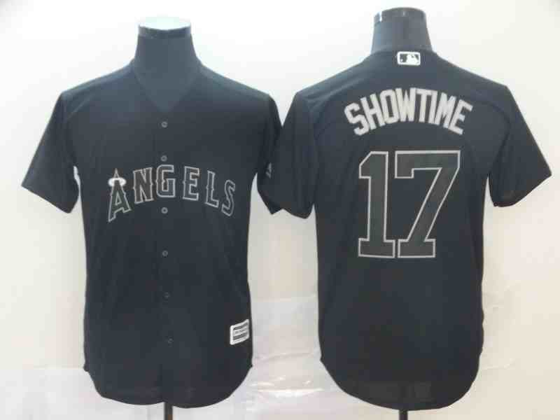 Angels 17 Shohei Ohtani  Showtime Black 2019 Players' Weekend Player Jersey