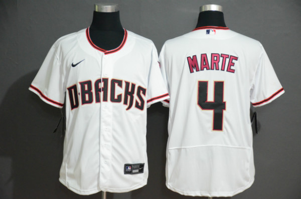 Diamondbacks 4 Ketel Marte White Nike Flexbase Jersey