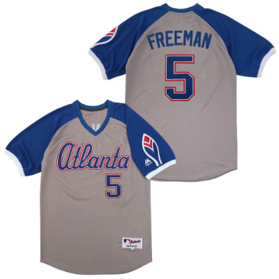 Braves 5 Freddie Freeman Gray Turn Back The Clock Jersey