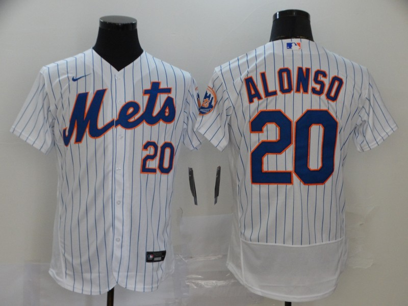 Mets 20 Pete Alonso White 2020 Nike Flexbase Jersey