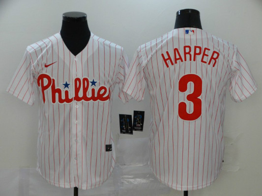 Phillies 3 Bryce Harper White 2020 Nike Cool Base Jersey