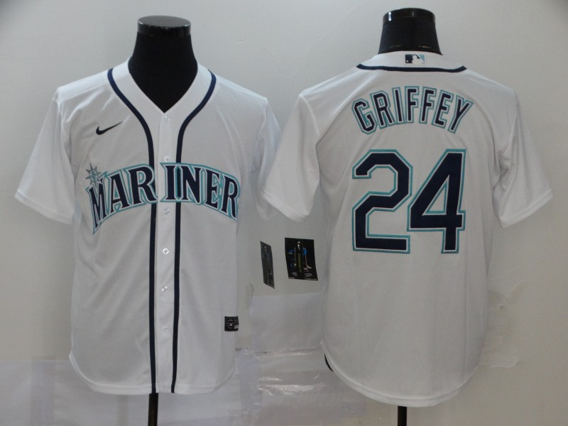 Mariners 24 Ken Griffey Jr. White 2020 Nike Cool Base Jersey