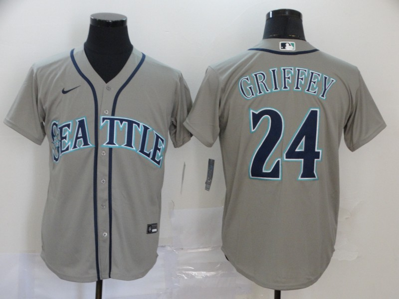 Mariners 24 Ken Griffey Jr. Gray 2020 Nike Cool Base Jersey