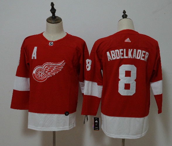 Red Wings 8 Justin Abdelkader Red Youth Adidas Jersey