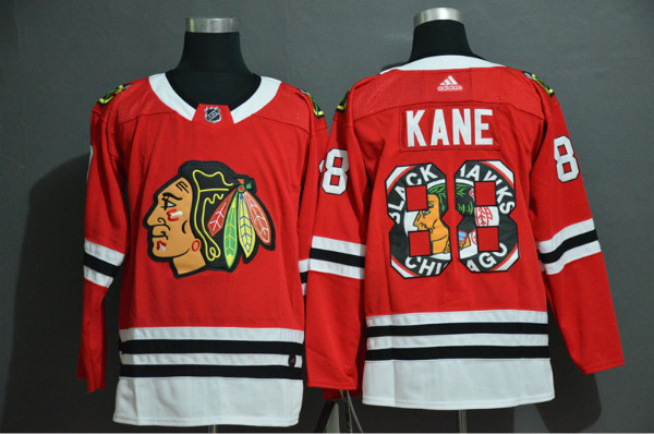Blackhawks 88 Patrick Kane Red Fashion Adidas Jersey