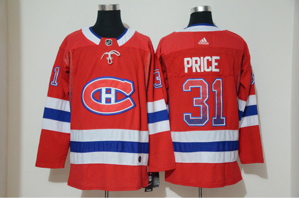Canadiens 31 Carey Price Red Drift Fashion Adidas Jersey
