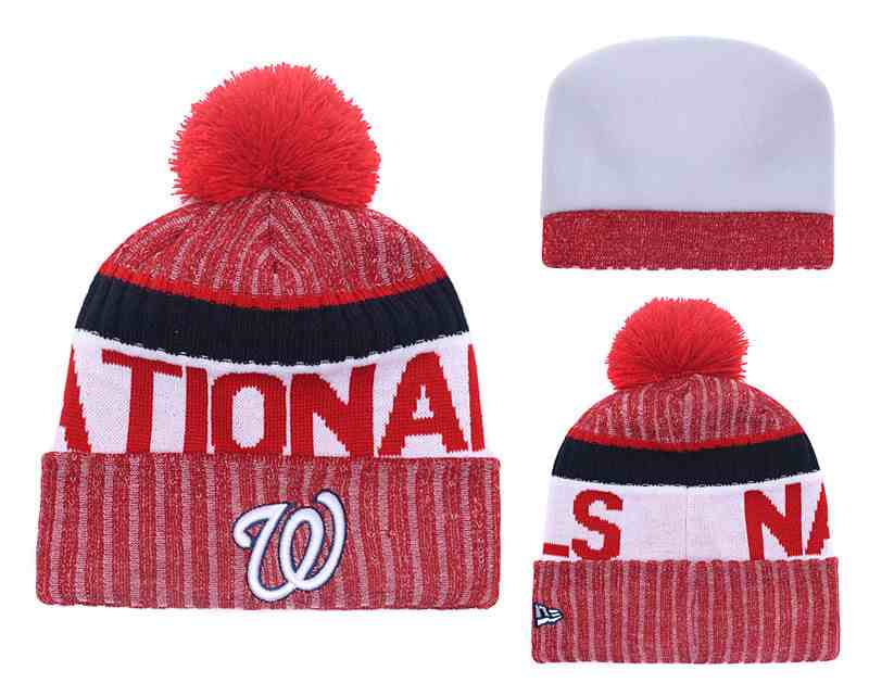 Nationals-Team-Logo-Red-Cuffed-Knit-Hat-With-Pom-YD