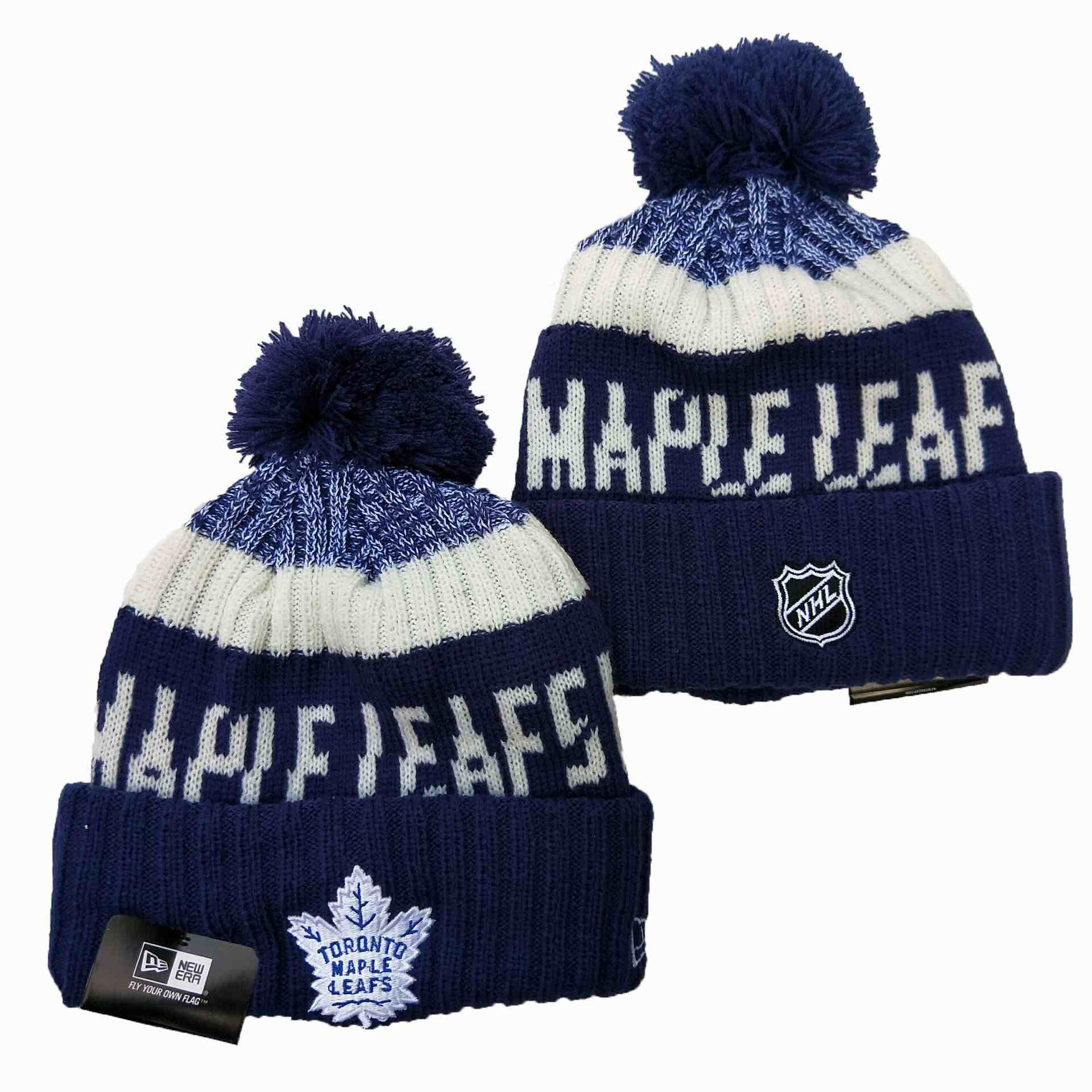Maple-Leafs-Team-Logo-Navy-Wordmark-Cuffed-Pom-Knit-Hat-YD