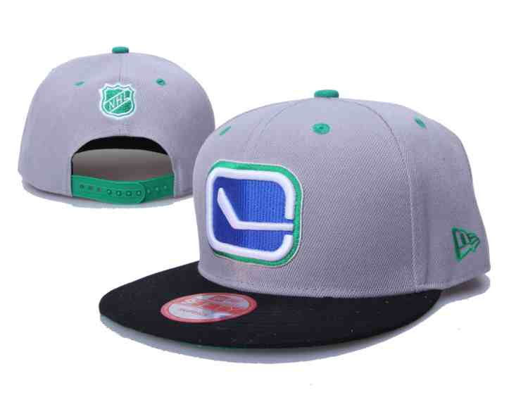 Canucks-Fresh-Logo-Gray-Black-Adjustable-Hat-LH
