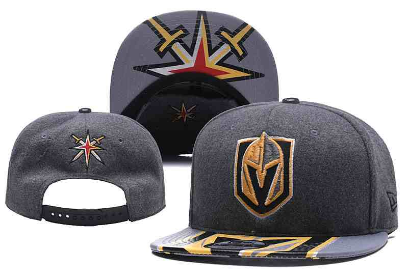 Vegas-Golden-Knights-Team-Logo-Gray-Adjustable-Hat-YD