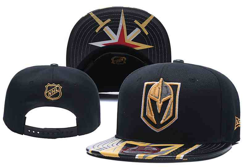 Vegas-Golden-Knights-Fresh-Logo-Black-Adjustable-Hat-YD