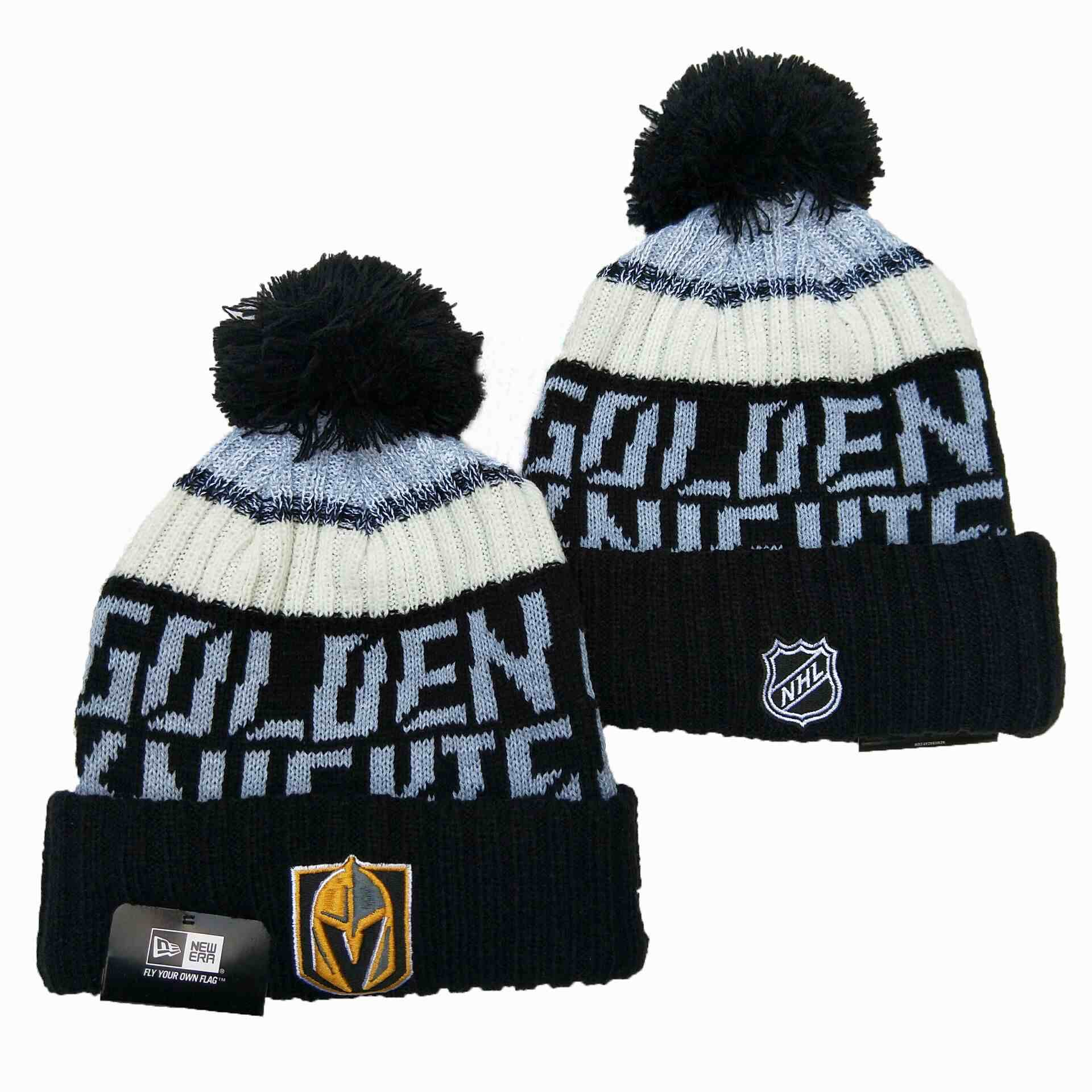 Vegas-Golden-Knights-Team-Logo-Black-Pom-Knit-Hat-YD