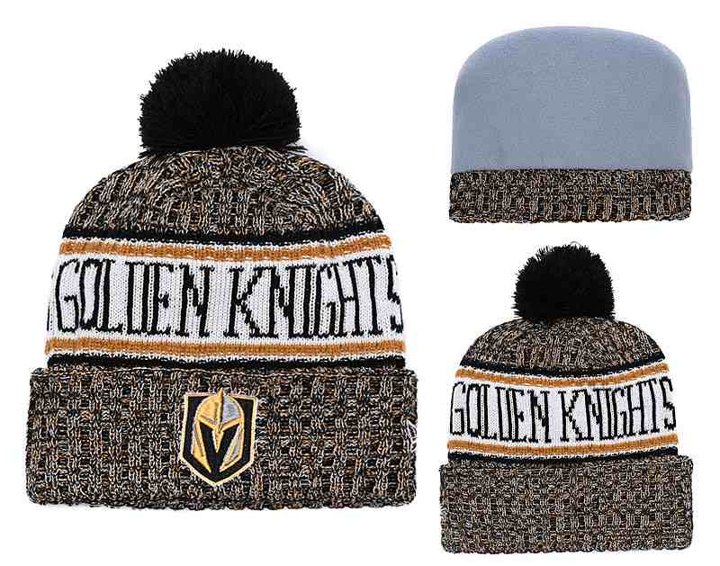 Vegas-Golden-Knights-Fresh-Logo-Yellow-Pom-Knit-Hat-YD
