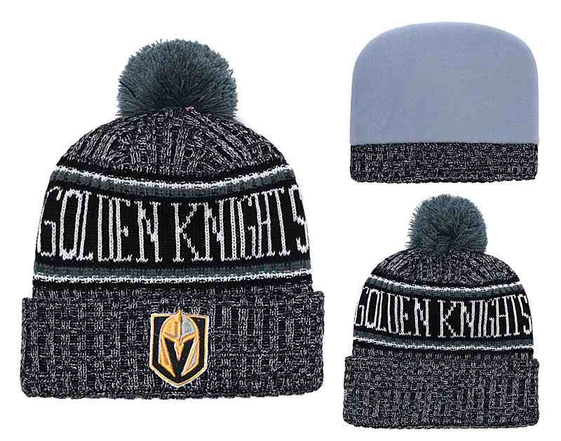 Vegas-Golden-Knights-Fresh-Logo-Black-Pom-Knit-Hat-YD