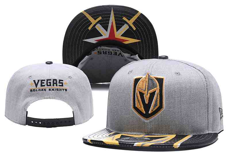 Vegas-Golden-Knights-Fresh-Logo-Black-Gray-Adjustable-Hat-YD