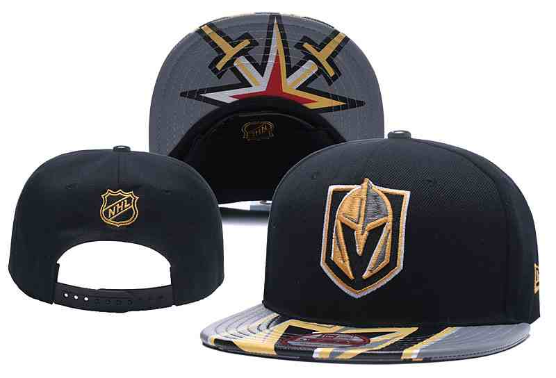 Vegas-Golden-Knights-Team-Logo-Black-Gray-Adjustable-Hat-YD