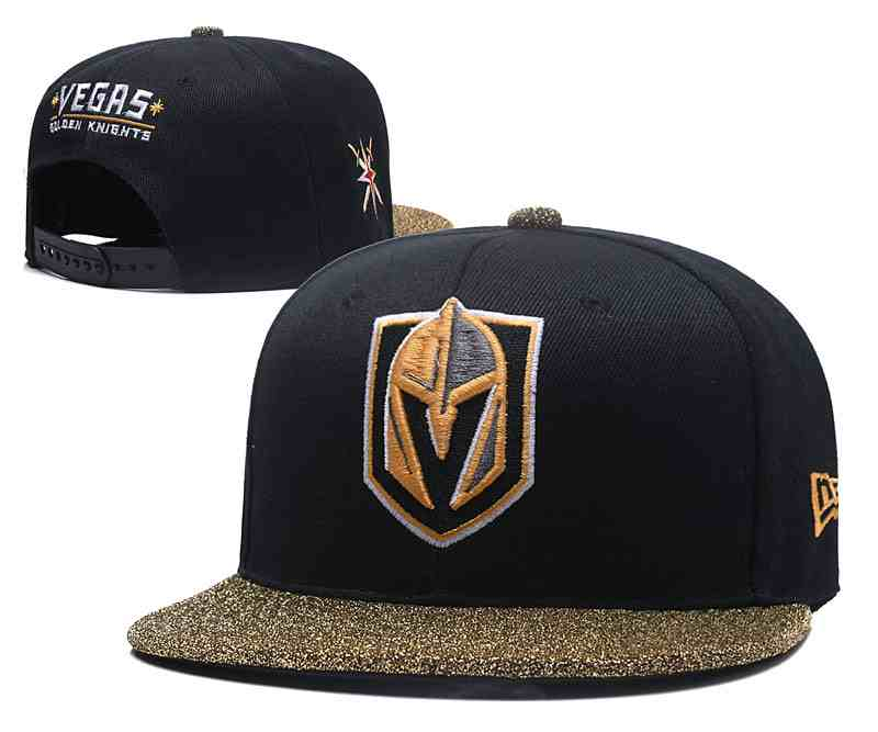 Vegas-Golden-Knights-Team-Logo-Black-Gold-Adjustable-Hat-YD