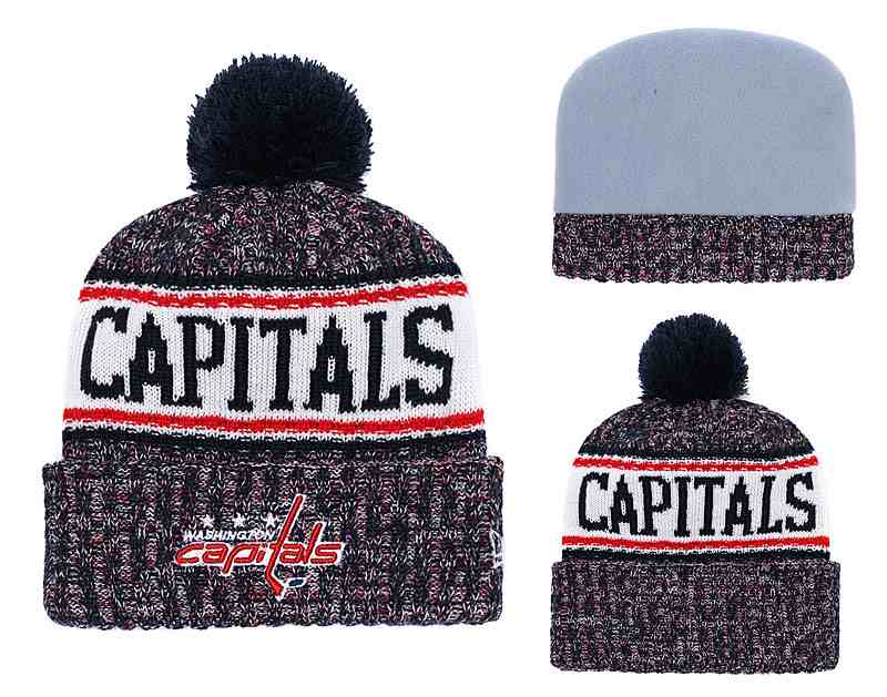 Capitals-Fresh-Logo-Black-Red-Pom-Knit-Hat-YD